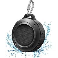 Outdoor Waterproof Bluetooth Speaker,Kunodi Wireless Portable Mini Shower Travel Speaker with Subwoofer, Enhanced Bass…