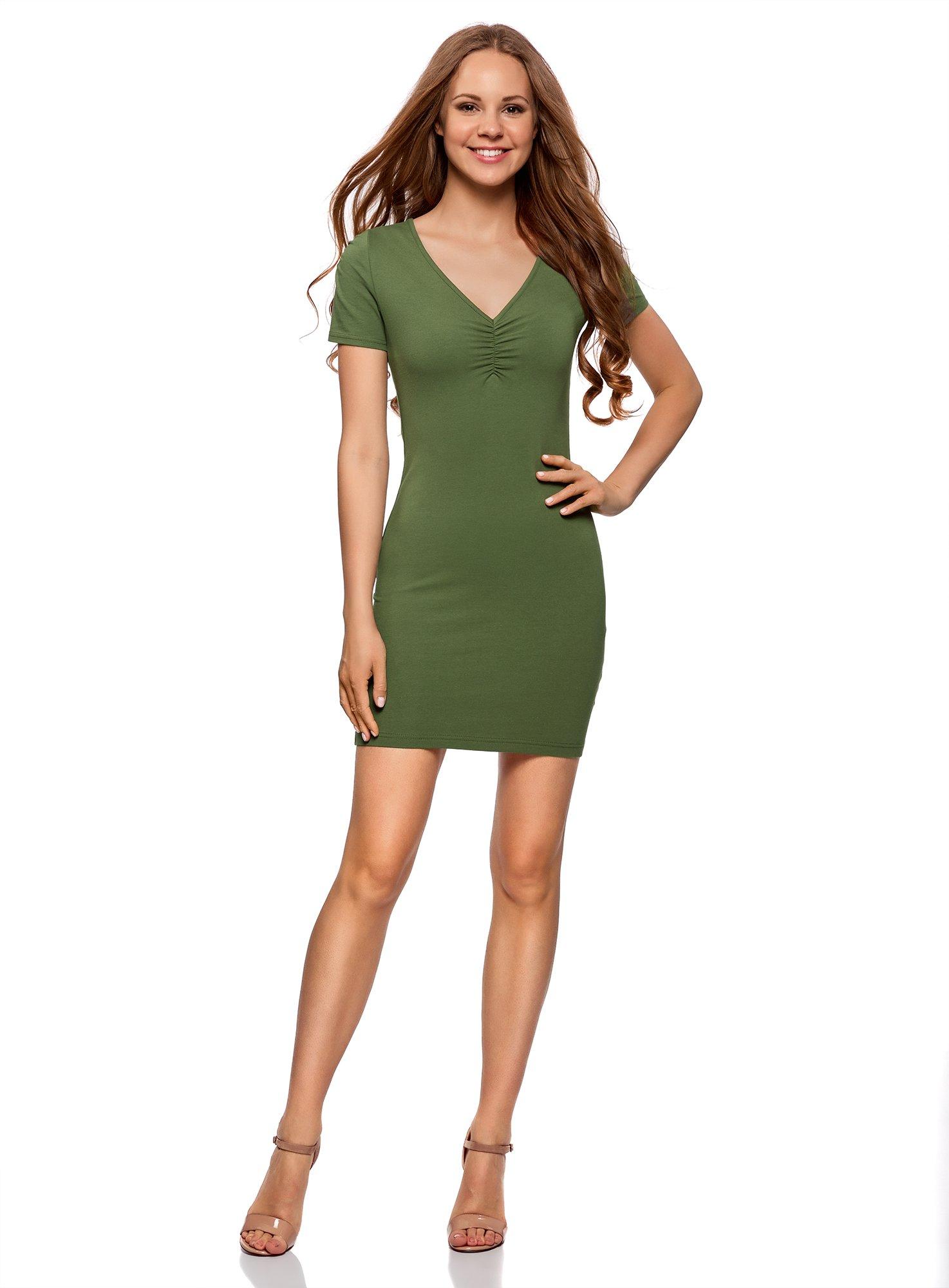 oodji Ultra Mujer Vestido de Silueta Ajustada con Escote en V product image