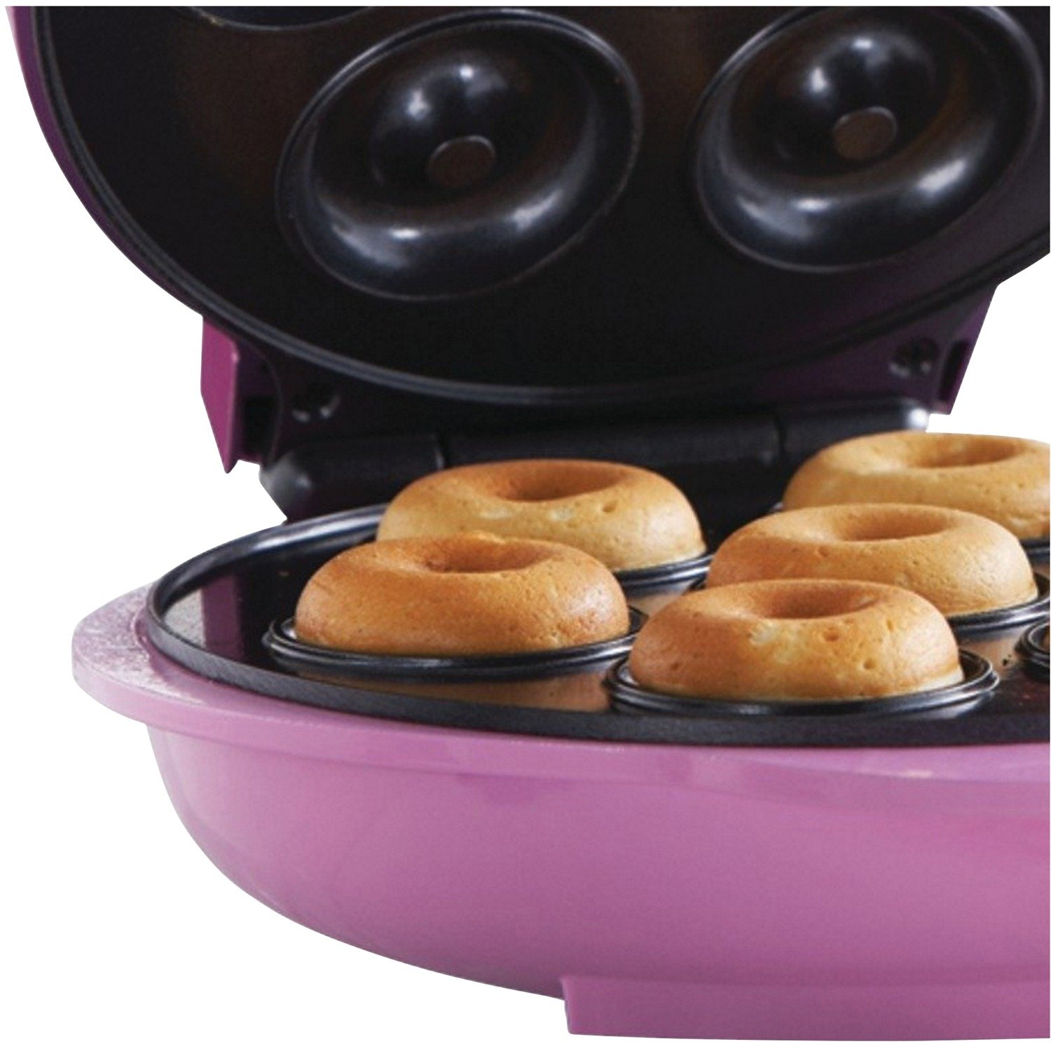 Brentwood TS-250 Non-Stick Mini Donut Maker Machine, Pink by Brentwood (Image #6)