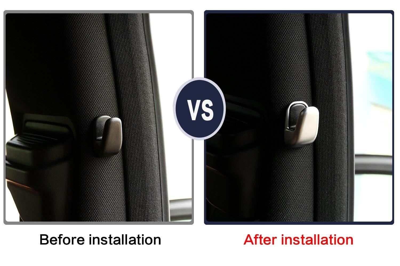 para clase E W212 S Clase W222 2013 2016 Pegatinas de gancho para pilar con dise/ño de coche ABS cromado en el interior