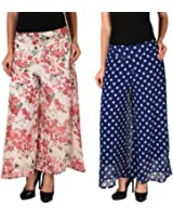 2Day Womens Georgette Palazzo (Pack of 2)