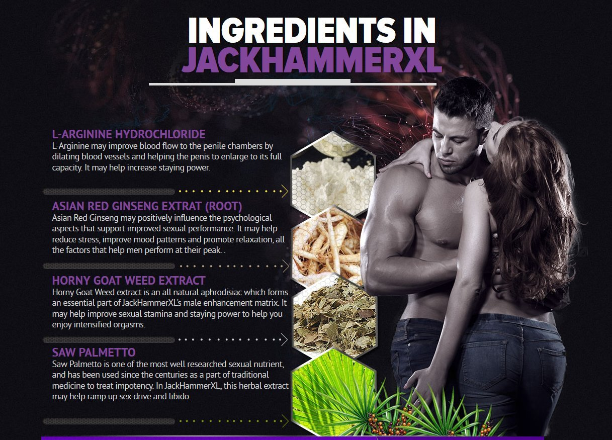 Male Enhancing Pills & Natural Testosterone Booster by Jackhammer XL Male Enhancements | 60 Potent Testosterone Pills w/Horny Goat Weed & Saw Palmetto for Muscle Gain, Metabolism Boost & Fat Burn
