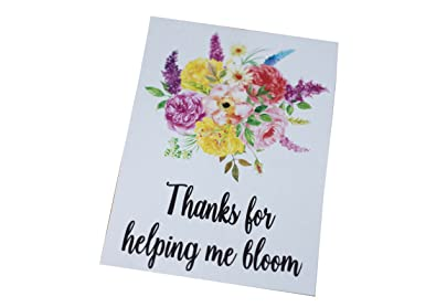 dios designs a6 postcard print thanks for helping me bloom wish