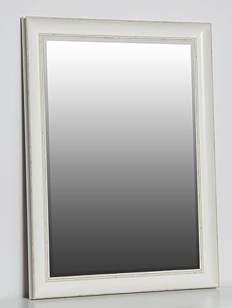 Spiegel Schräg Aufhängen wandspiegel weiß 80 x 60 cm barock landhaus shabby chic spiegel mit