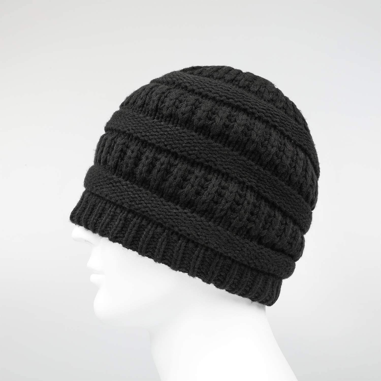 Layer Black Skull Cap Cold Weather Thick Daily Warm Hats Beanie for Men Winter Knit Beanie Hat for Women