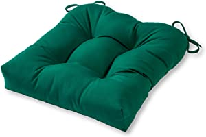Greendale Home Fashions AZSC4800-FOREST Leaf Green 20-inch Outdoor Sunbrella Fabric Dining Seat Cushion
