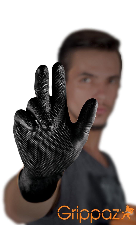 50 piezas Grippaz 246 guantes protectores de nitrilo Tama/ño: S Naranja guantes de trabajo