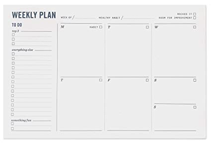 Weekly Planner Notepad Weekly Planning Pad With To Do
