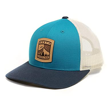25495f69b82 Richardson North Carolina NC Teal Birch Navy Low Pro Mesh Patch Cap ...