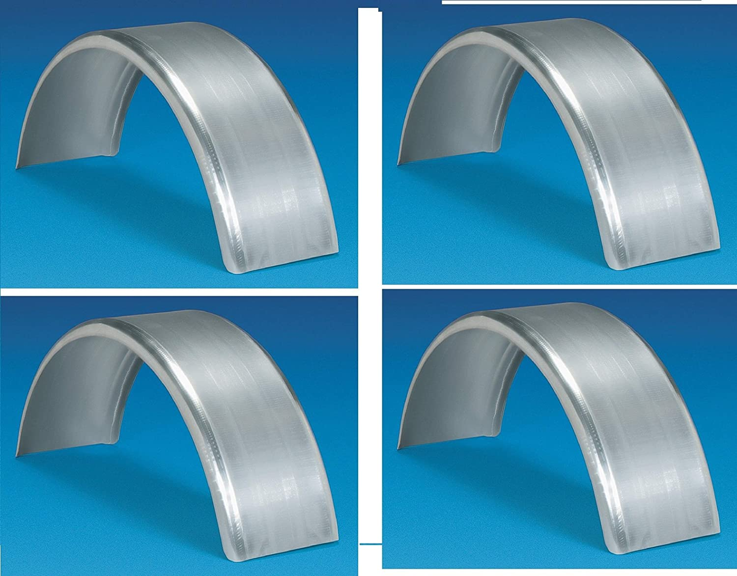 27 3//8in CE Smith Trailer Fender 4 Long Paintable Galvanized Flat-Top Round