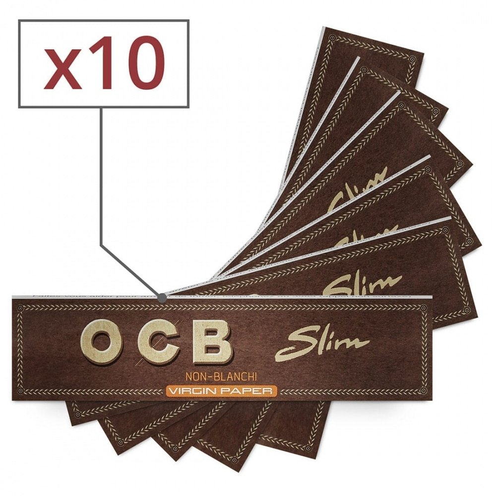 papier à rouler ocb slim virgin x 10