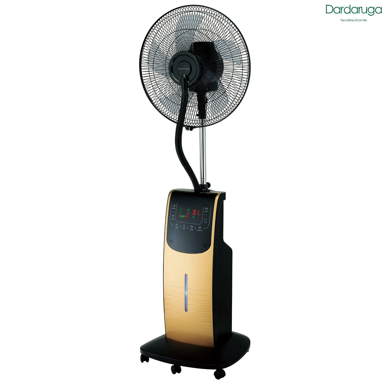 Ventilador digital Dardaruga con nebulizador de agua DMA, plateado: Amazon.es: Jardín