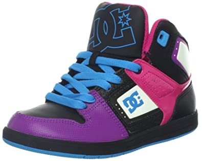 5264a221d68 DC - Boys Destroyer High Se Hi Top Shoes, UK: 4.5 Youth UK, Black/Purple:  Amazon.co.uk: Shoes & Bags