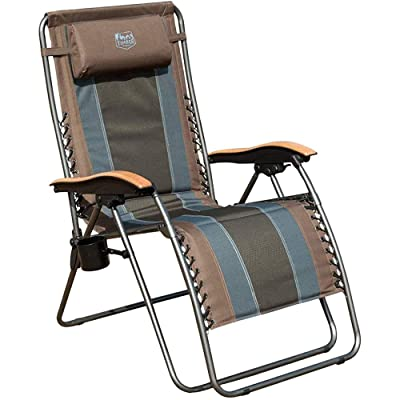 Timber Ridge Zero Gravity Chair Oversized Recliner Padded Folding Patio Lounge Chair 350lbs Capacity Adjustable Lawn Chair