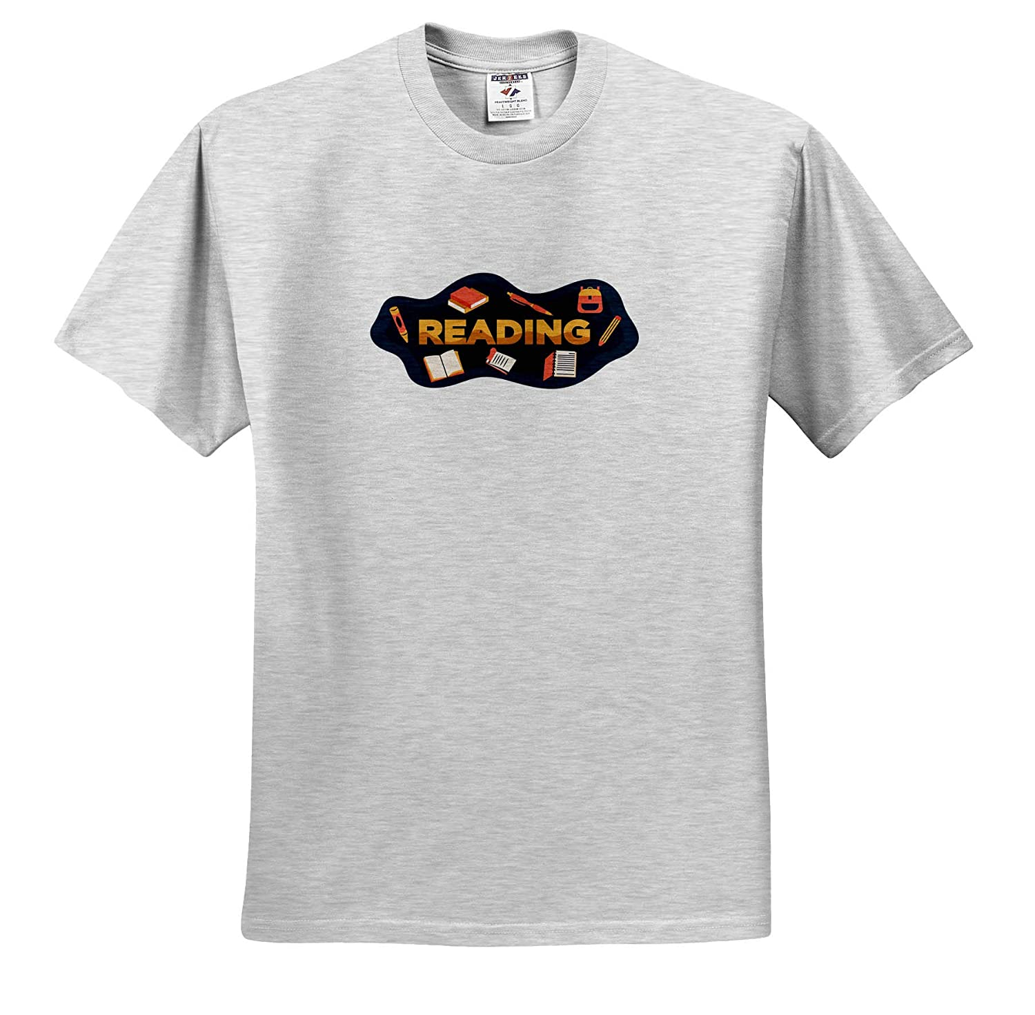 3dRose Sven Herkenrath Quotes Reading Saying Quotes for Book Lovers for School ts/_320104 Adult T-Shirt XL