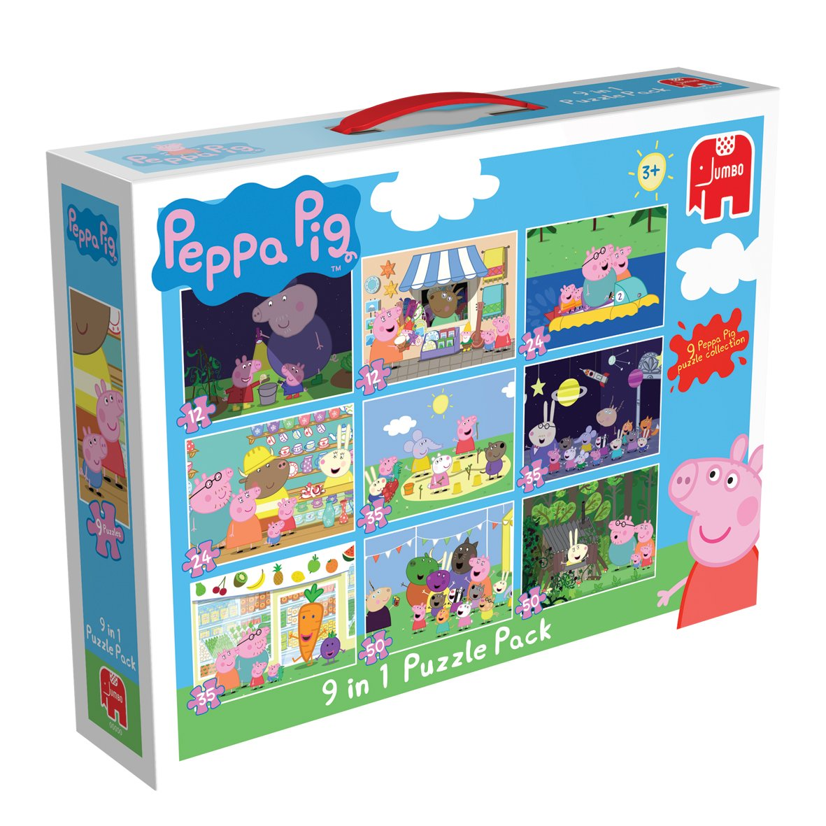 peppa pig 9 in 1 jigsaw puzzle pack jumbo amazon co uk toys u0026 games