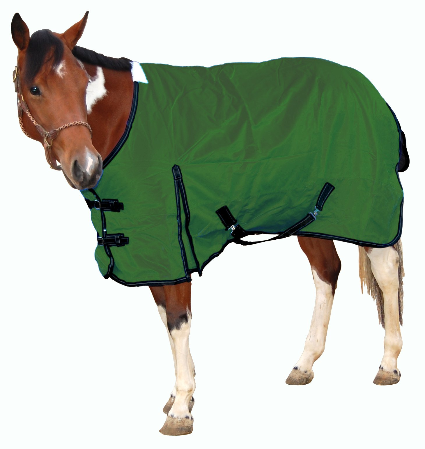 Royal Hamilton WB-1200D-HG-L Turnout Horse Blanket Hunter Green with Black Trim, 81-Inch, Large