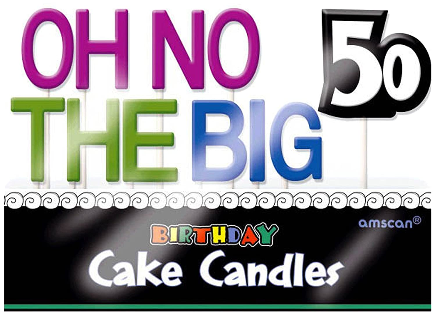 6 Ct 177501 TradeMart Inc Oh No The Big 60 Toothpick Candle Set Birthday