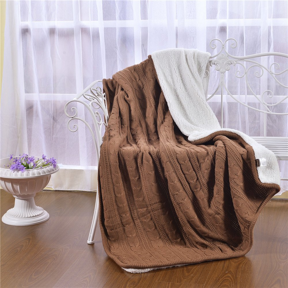 Fuzzy Blanket for Sofa Couch Chair,Shaggy Quilt Comforter All Season Off White Lucky lover Luxury Quality Fluffy Sherpa Knit Throw Blanket 47x70