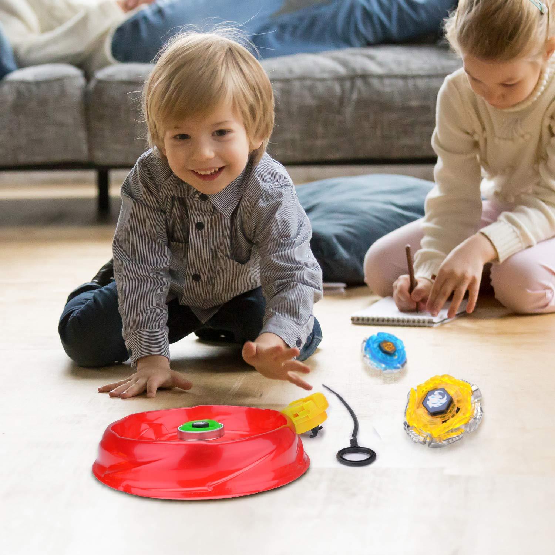 Surhomic 4 Pcs Set de Spinning Top Gyro avec Launcher Beyblade M/étal Combat Spinning Top Toupie Jouet et Cadeaux pour Enfants Adulte