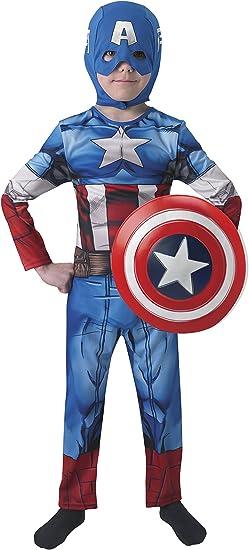 Avengers - Disfraz de Capitán América con escudo para niños ...