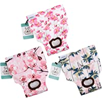 CuteBone 3 Pack Floral Dog Nappies Female Dog Diapers XS for Doggie,Reusable in Heat&Urination