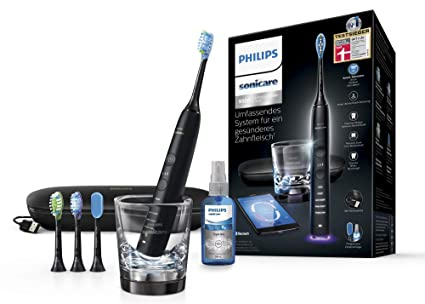 Philips Sonicare Diamond Clean Smart HX9924/03 - Cepillo de dientes con App y cabezales con sensores, incluye cabezal y spray lingual, color blanco