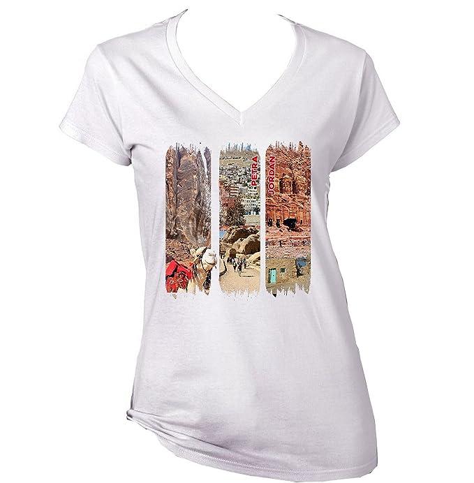 teesquare1st Petra Jordan Camiseta para Mujer de Algodon: Amazon.es: Ropa y accesorios