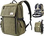 Zecti Camera Backpack, Waterproof Canvas DSLR Camera Bag for Laptop Hiking