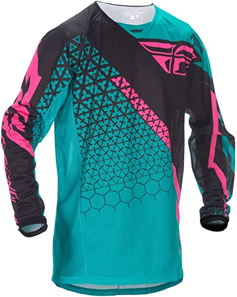 Fly Racing Motocross kenetic malla camisa TRIFECTA verde ...