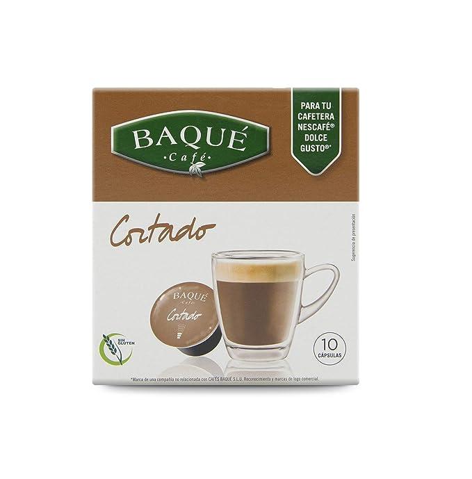 Cafés Baqué Capsulas Compatibles Dolce Gusto Café Cortado 40 ...