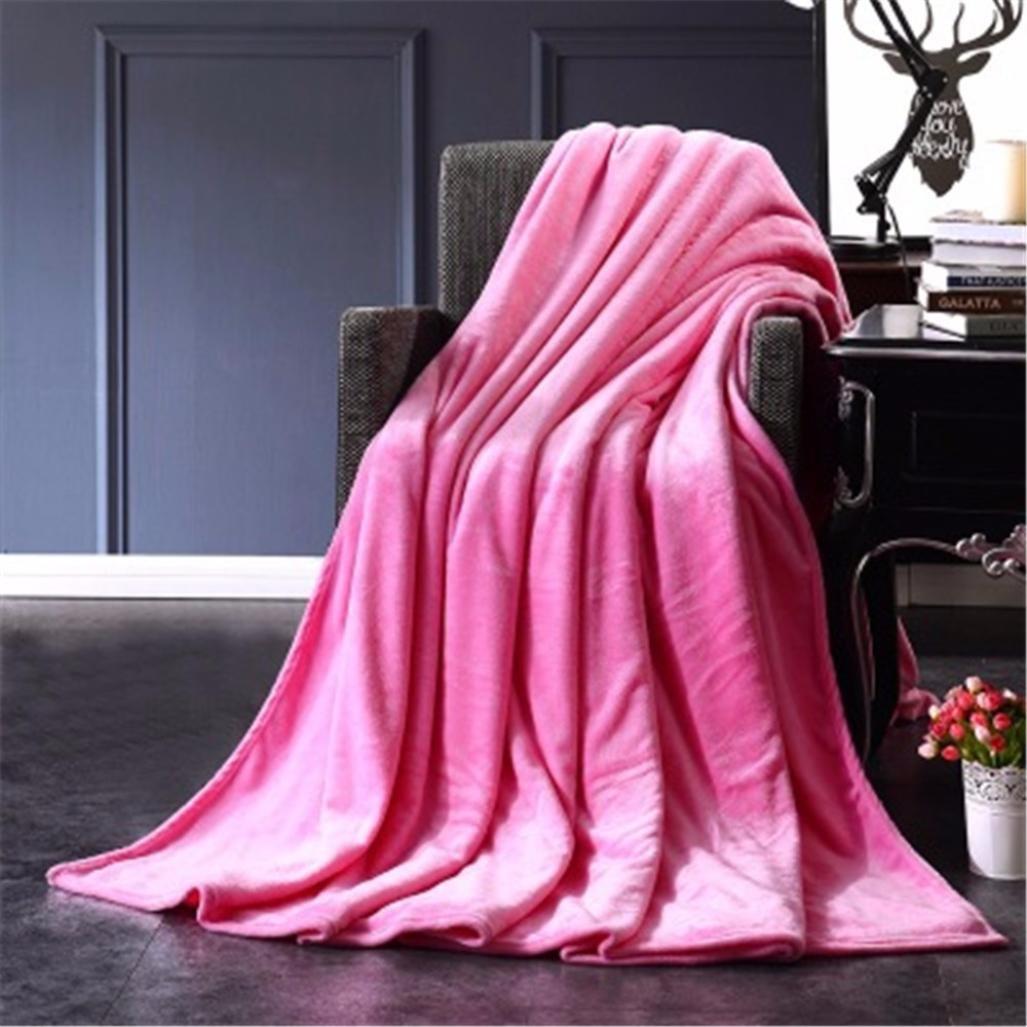 Super Soft Warm Plush Fleece Blanket Sofa Bedding Quilt Play Blanket Vibola (50x70cm, White) Vibola® 25644