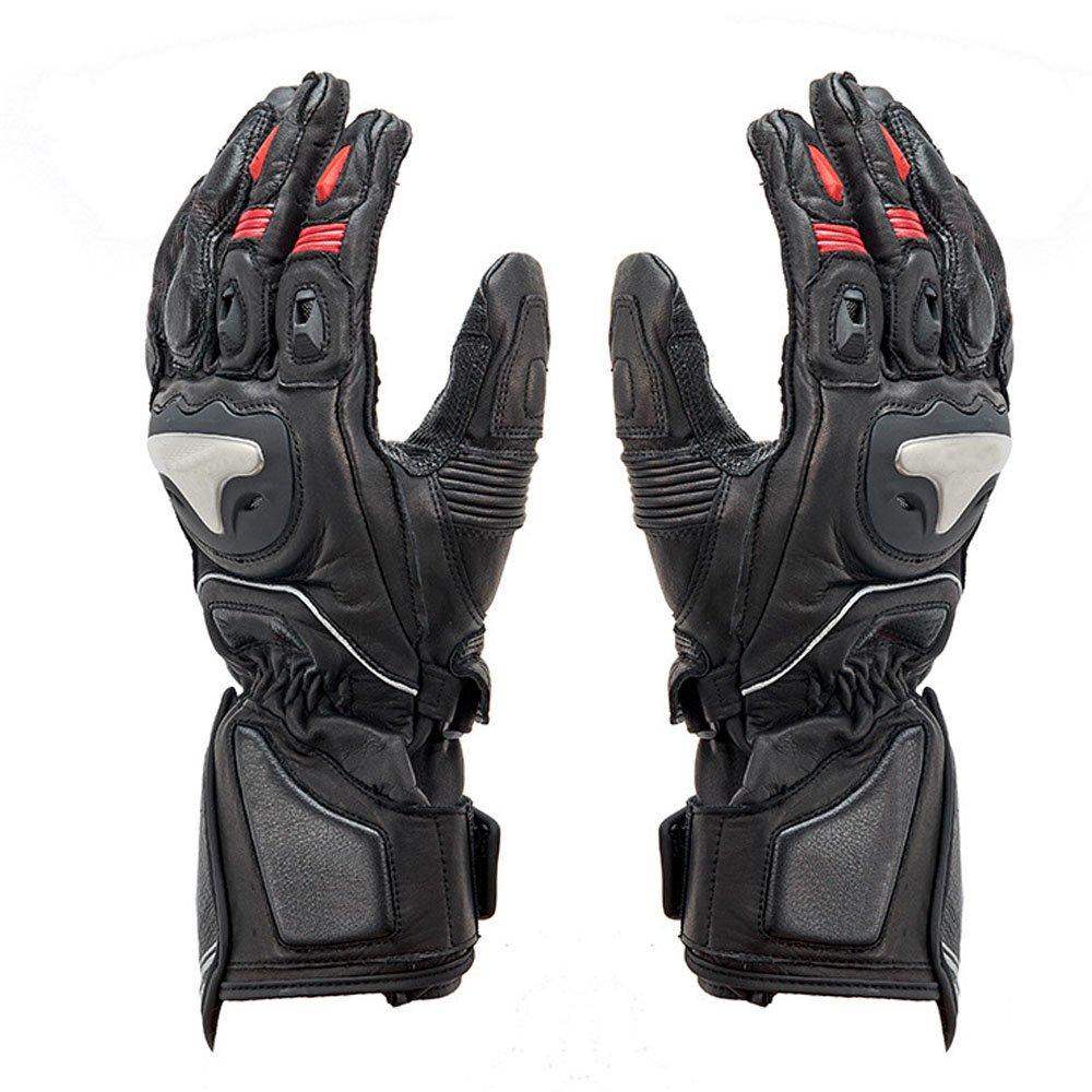 DOXUNGO Motorradhandschuhe Unisex Wasserdicht Leder Handschuhe Stoßfest Herren Winter für Motorrad Radfahren Wandern Outdoor Sport