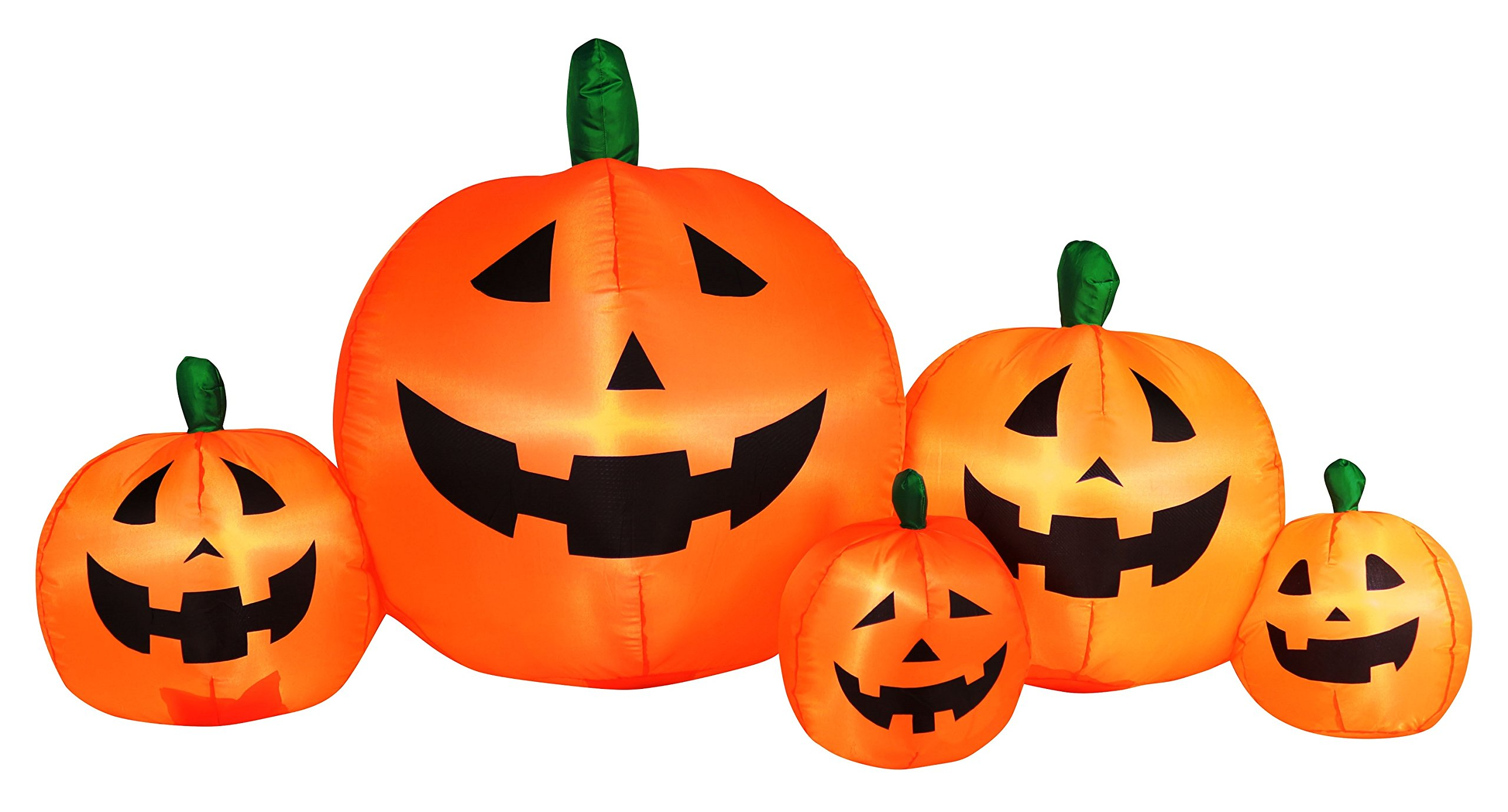Occasions Inflatable Flashing Lights Pumpkin Patch Halloween Decoration