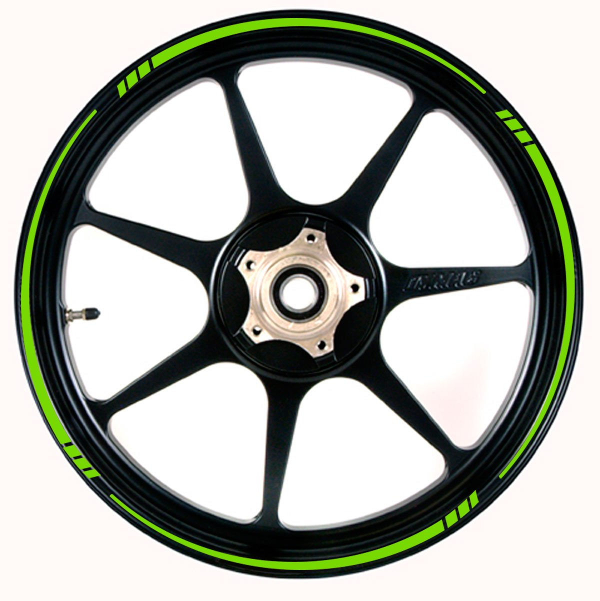 Amazoncom BRIGHT GREEN Wheel Rim Tape TAPERED Stripe Fit ALL - Vinyl stripes for motorcycles