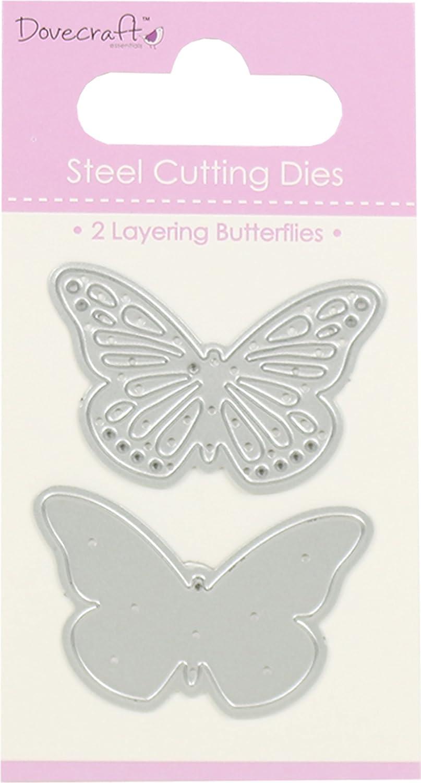 Dovecraft Value Metal Cutting Dies - Butterflies Duo Trimcraft DCDIE037