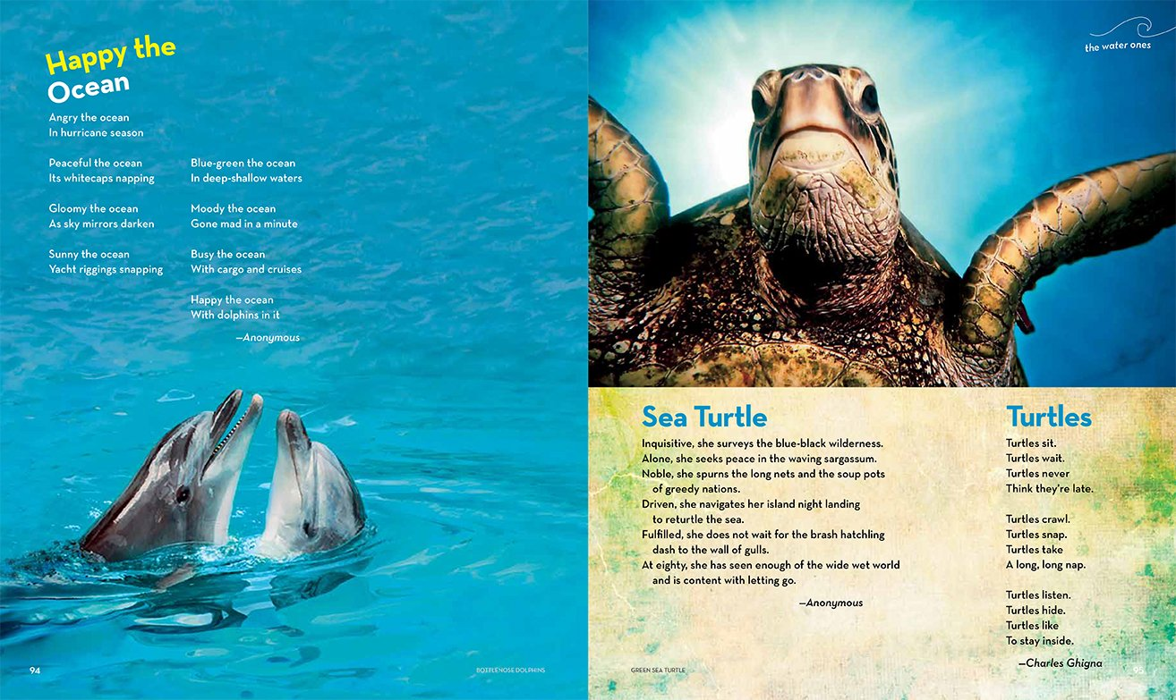 national geographic book of animal poetry 200 poems with