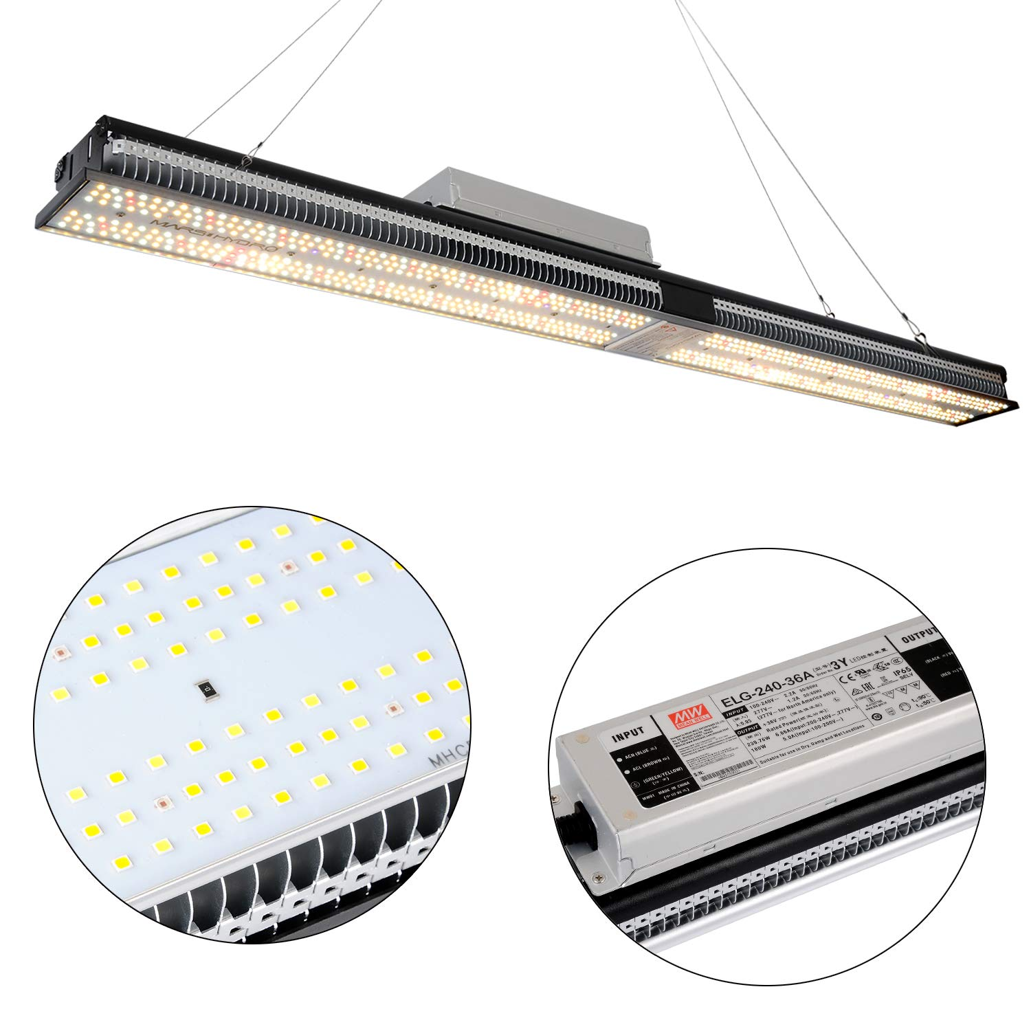 MARS HYDRO SP 250 Led Grow Lights Full Spectrum for Indoor Plants Veg and Flower Dimmable Hydroponic Greenhouse Water Proof Growing Lamps Cool and Quiet