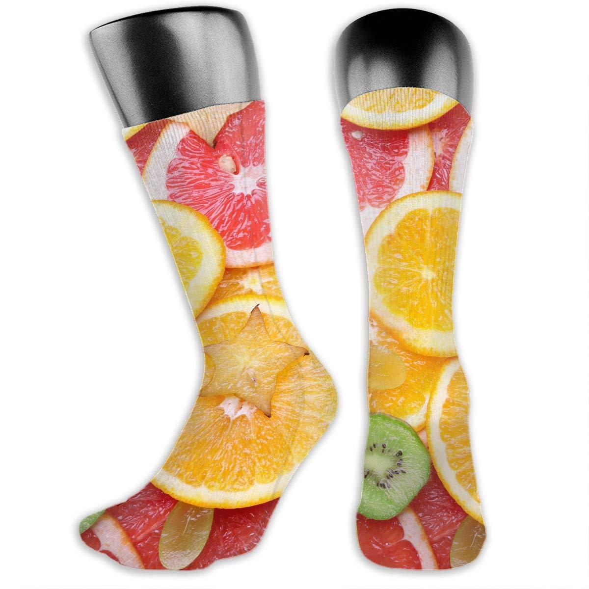 OLGCZM Lemon Pattern Men Womens Thin High Ankle Casual Socks Fit Outdoor Hiking Trail