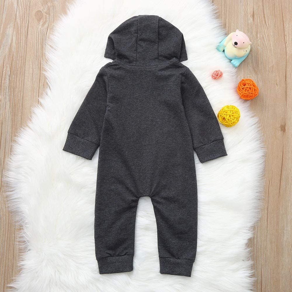KONFA Toddler Newborn Kids Baby Girls Boys Fall Winter Clothes,Who Can Kiss Me Romper Jumpsuit 3-24 Months