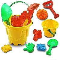 CHENZHEN 7Pcs Set Sand Sandbeach Kids Plastic Beach Toys Castle Bucket Spade Shovel Rake Water Tools Fit for Summer…