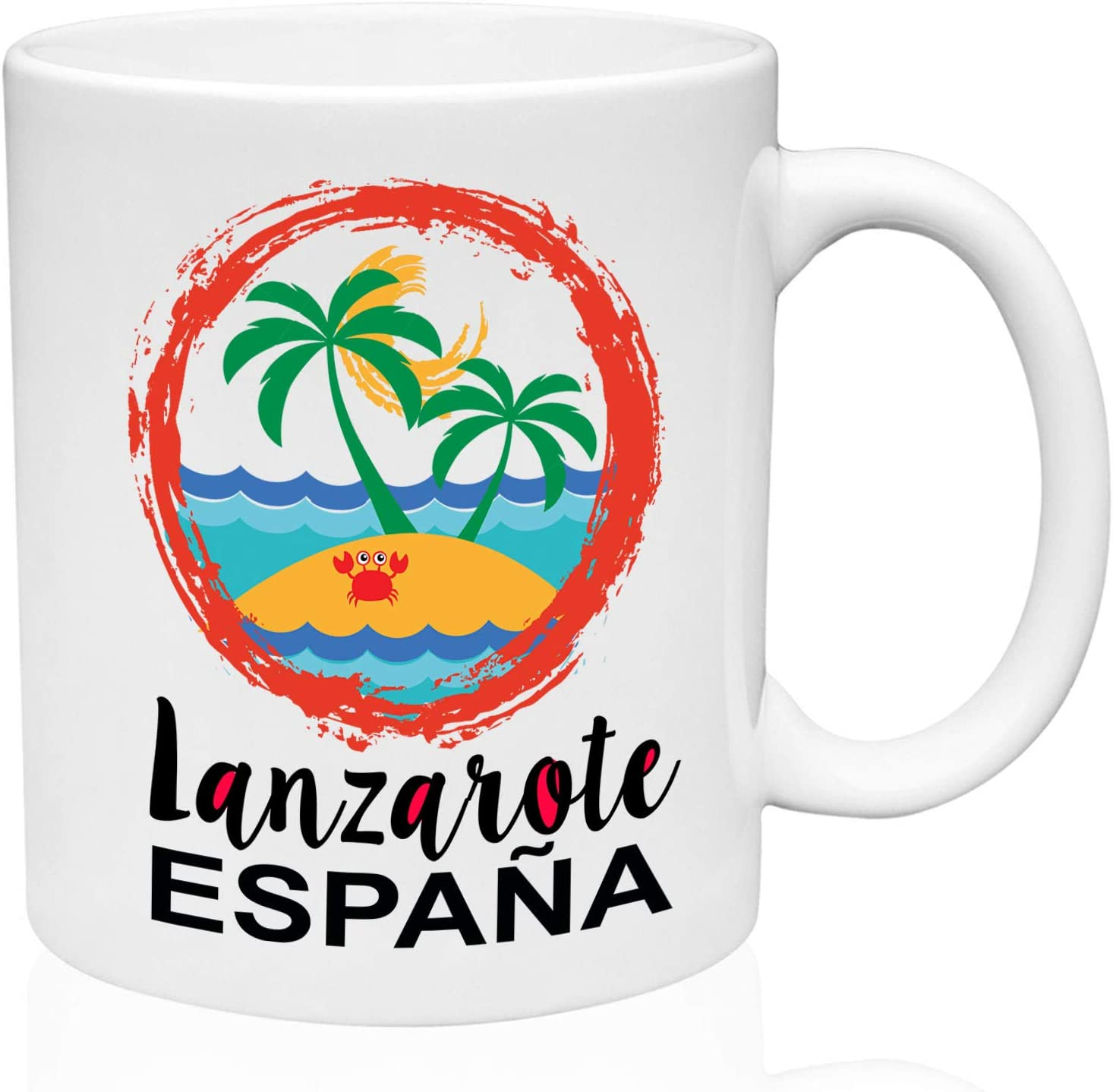 Lanzarote Canary Islands 11oz Taza de café de cerámica de alta calidad: Amazon.es: Hogar