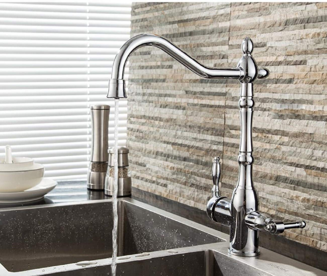 Kitchen Faucet Three-In-One Water Purifier Kitchen Hot And Cold Water Purifier Sink Dishwasher Sink Three-In-One Water Tap Kitchen Sink Faucets Basin Mixer Faucet