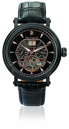 Pierre Lannier - 302D493 - Montre Homme - Automatique Analogique - Cadran  Noir - Bracelet Cuir bd6790c449db