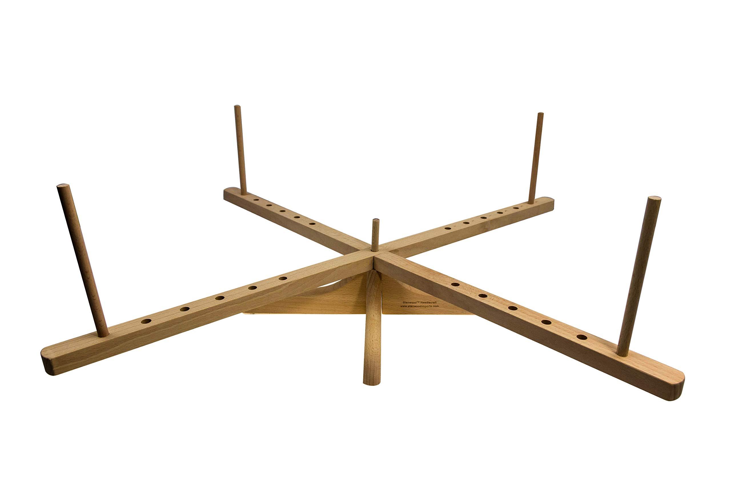 Stanwood Needlecraft Tabletop Amish Style Wooden Yarn Swift, 2.5-6-Feet (YW-3) by Stanwood Needlecraft (Image #2)