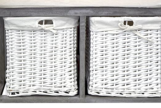 Mobili Da Ingresso Shabby : Rebecca mobili panca panchina da interno 2 cassetti legno paulownia