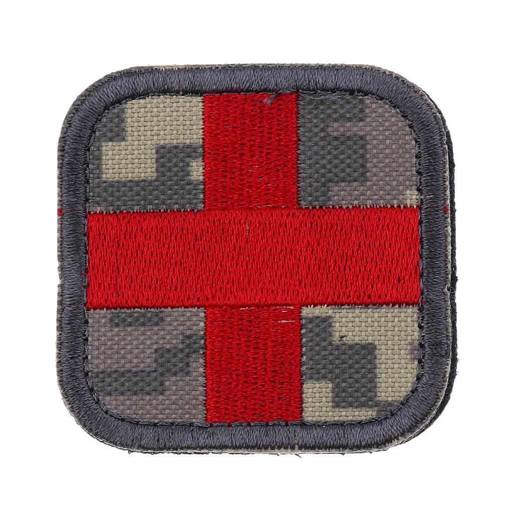 Sharplace Codera de Cruz Roja Parche de Primeros Auxilios para Bolso Sombrero Viaje Deportes Aire Libre - Blanco