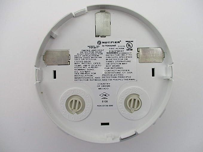 Notifier FSP-951T - Sensor fotoeléctrico con Cabezal térmico, Color Blanco: Amazon.es: Electrónica