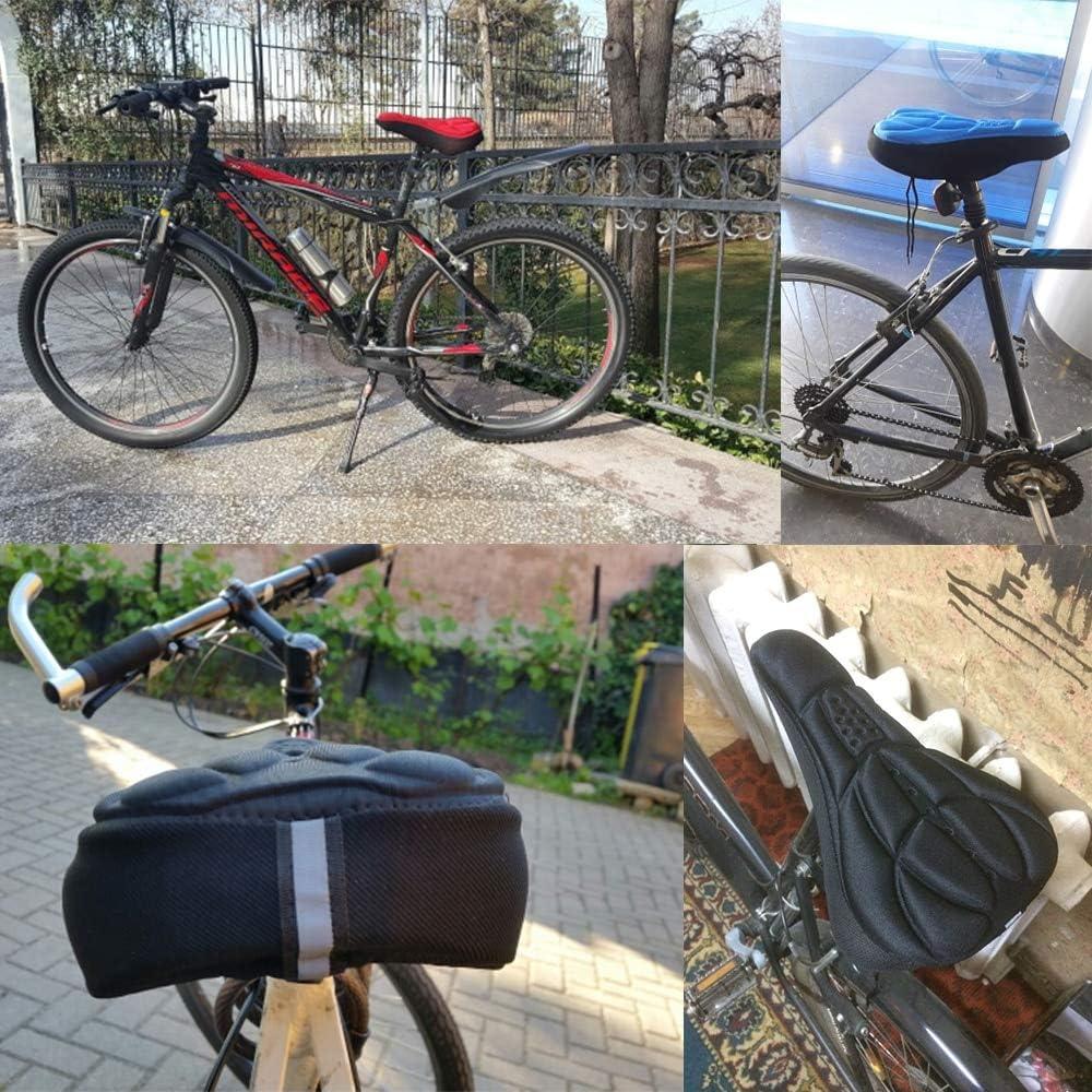 Sillín De Bicicleta 3D Suave Ciclismo Funda De Asiento Silicona Cojín Ergonómica