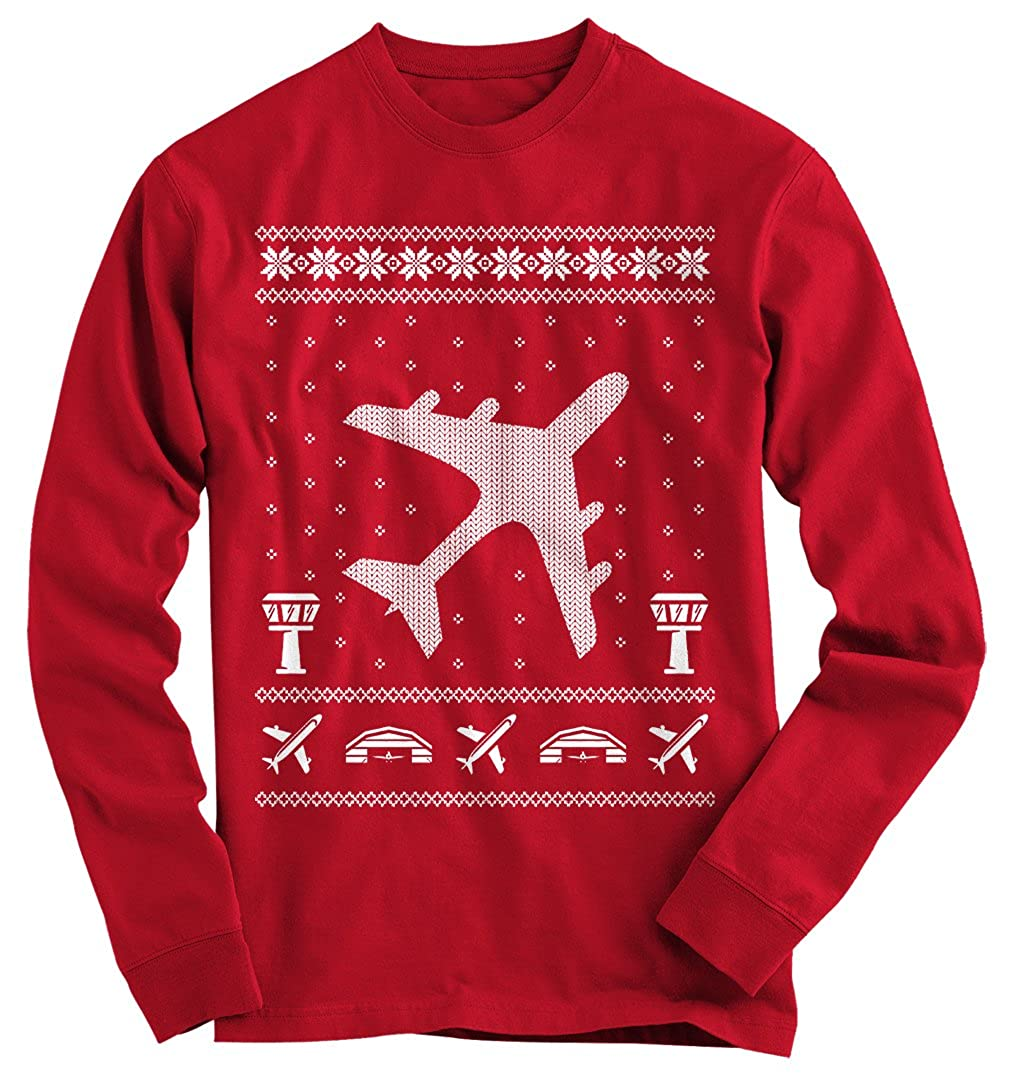 Gnarly Tees Men's Aviation Ugly Christmas Sweater